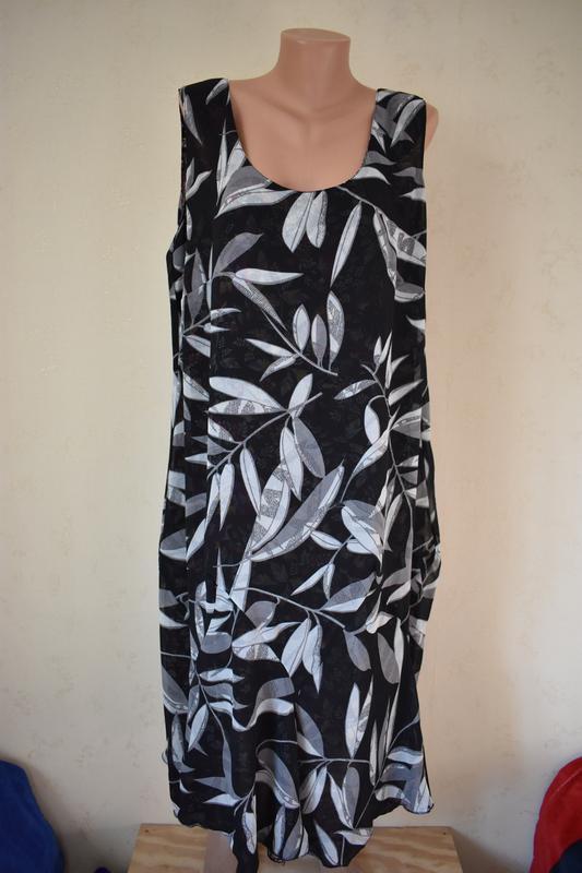 Красивое оригинальное  платье с принтом два в одном большого р... - Фото 2