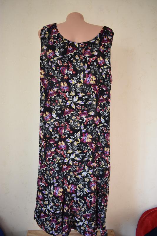 Красивое оригинальное  платье с принтом два в одном большого р... - Фото 3