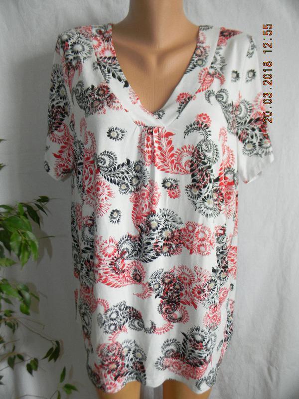 Трикотажная блуза с принтом большого размера m&co