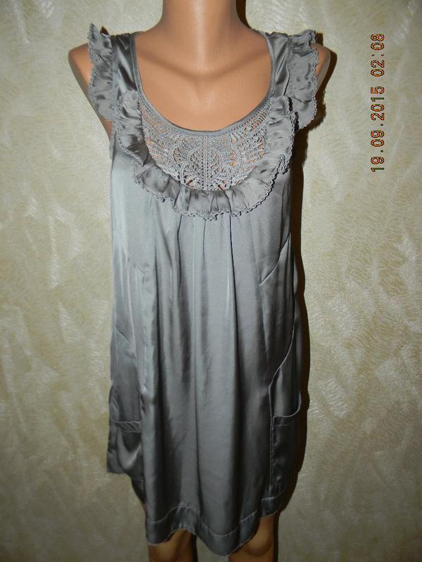 Красивое платье с ажурным передом