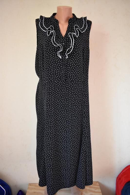 Красивое платье в горошек большого размера