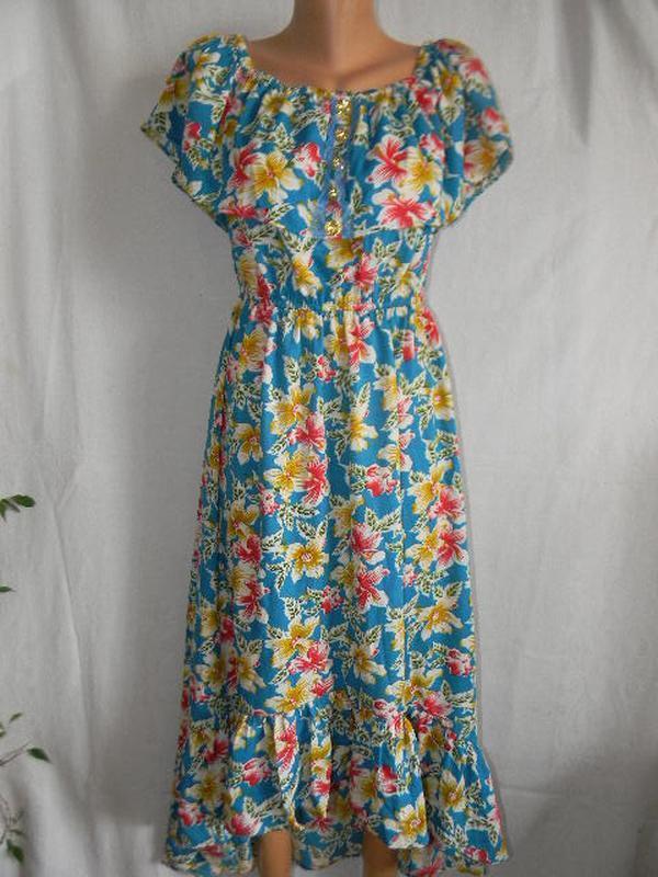 Нежное платье платье с оборками и открытыми плечами lily