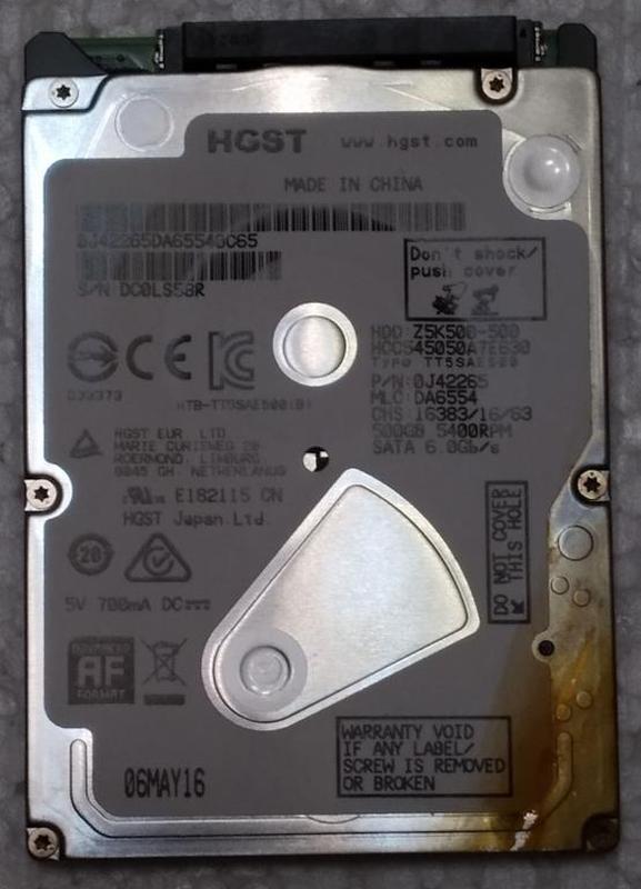 Жесткий диск ноутбука HDD SATA2 2.5 500GB HITACHI б/у (DC0LS58R)