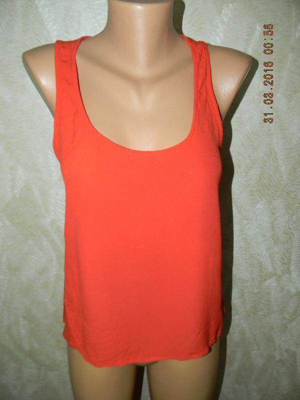 Вискозная летняя блуза-майка