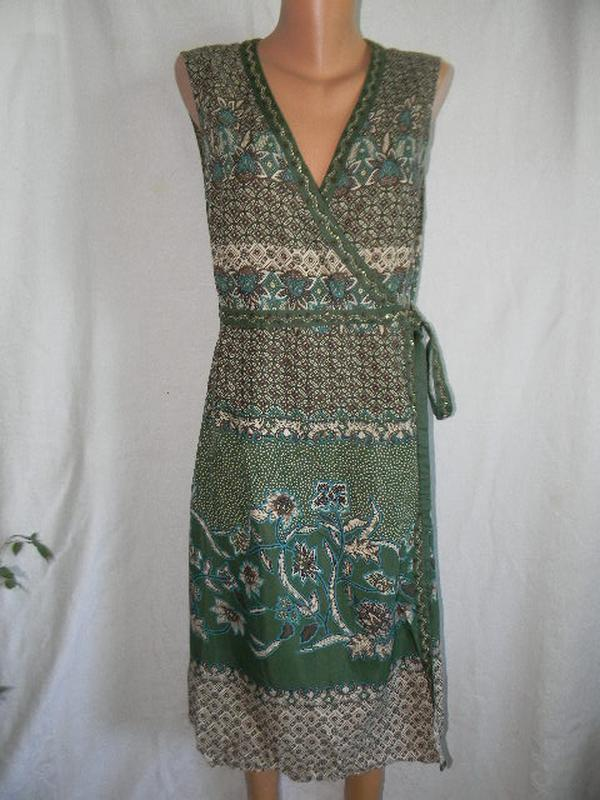 Легкое натуральное платье на запах