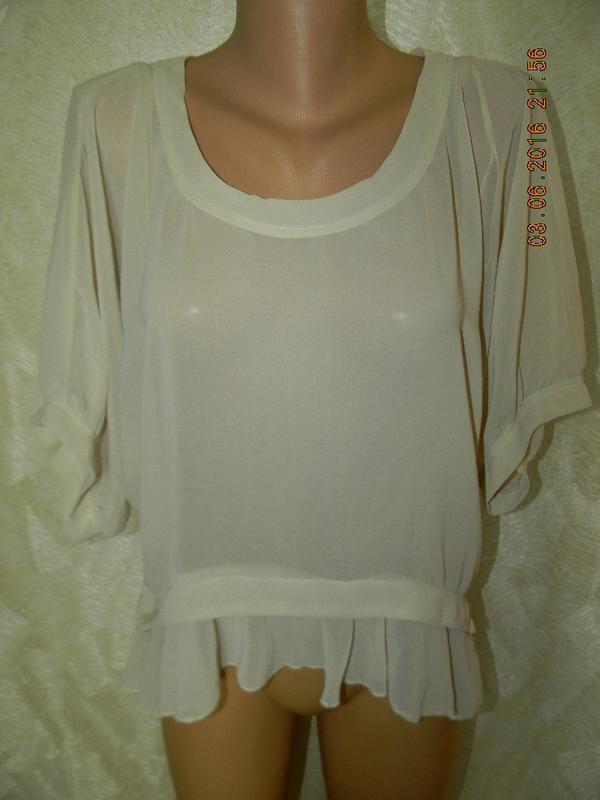 Бежевая шифоновая блуза miso