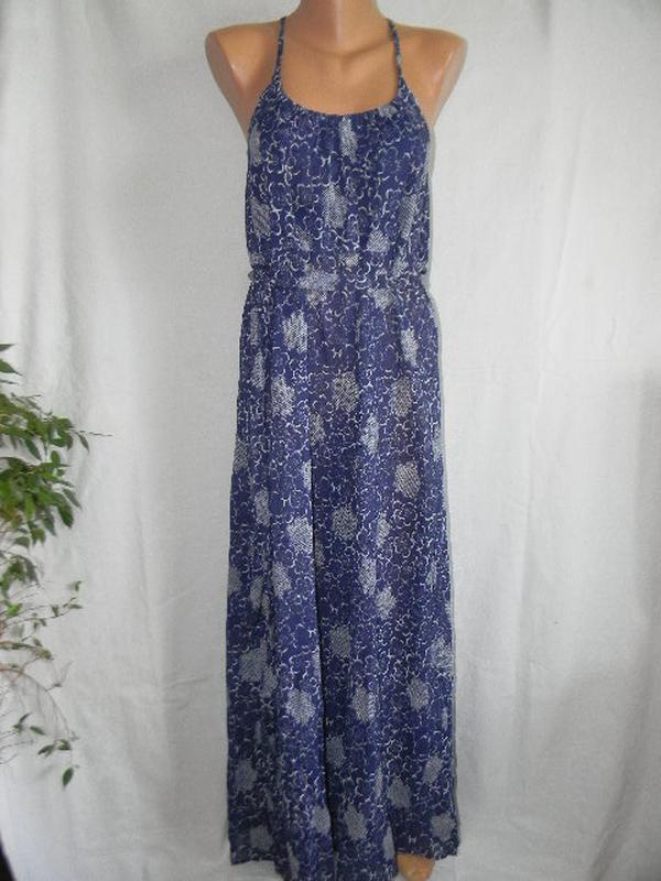 Легкое летнее платье в пол
