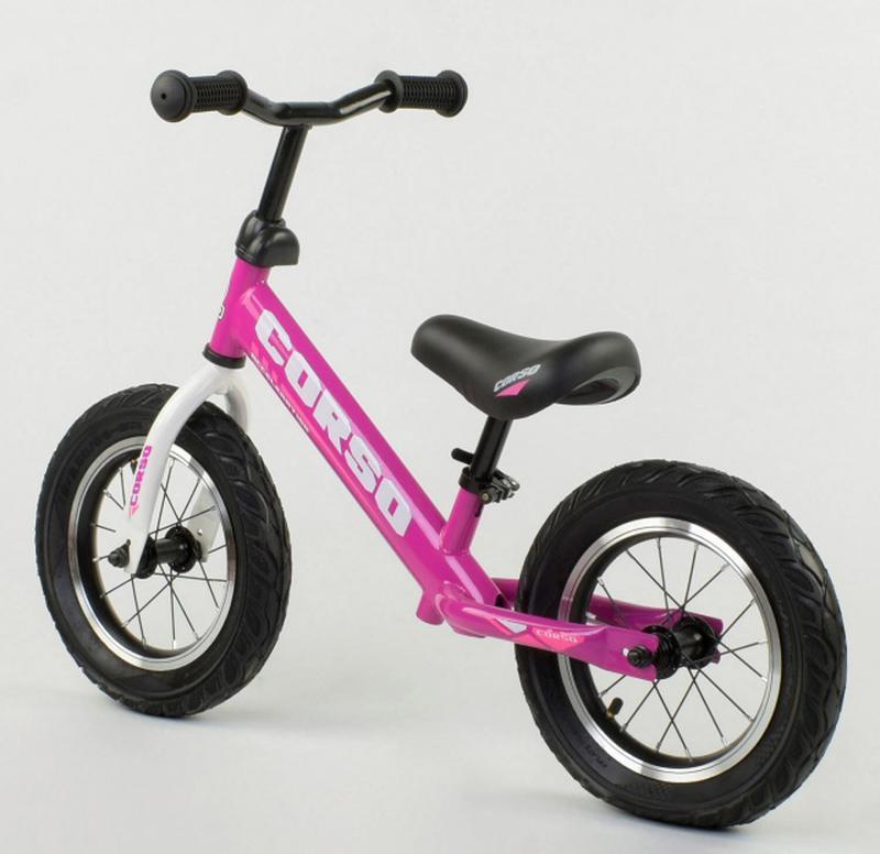 Беговел, велобег CORSO 54307 стальная рама, колесо 12« надувные к - Фото 3