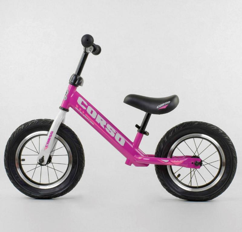 Беговел, велобег CORSO 54307 стальная рама, колесо 12« надувные к - Фото 2
