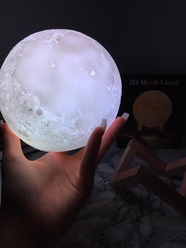 ХИТ! Ночник Луна Magic 3D Moon Light светильник лампа - Фото 2