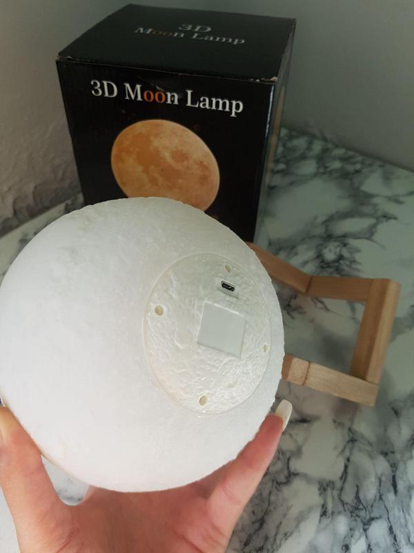 ХИТ! Ночник Луна Magic 3D Moon Light светильник лампа - Фото 3