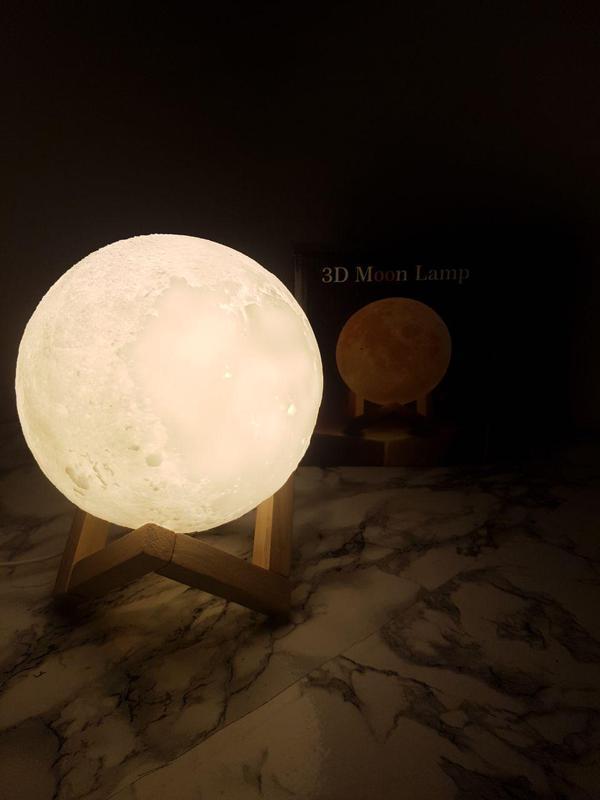 ХИТ! Ночник Луна Magic 3D Moon Light светильник лампа - Фото 8