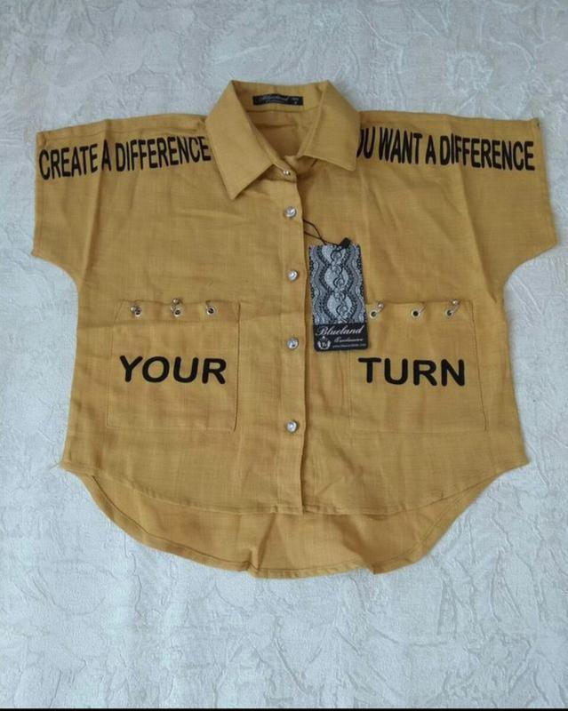 Стильная блузка для девочки. турция