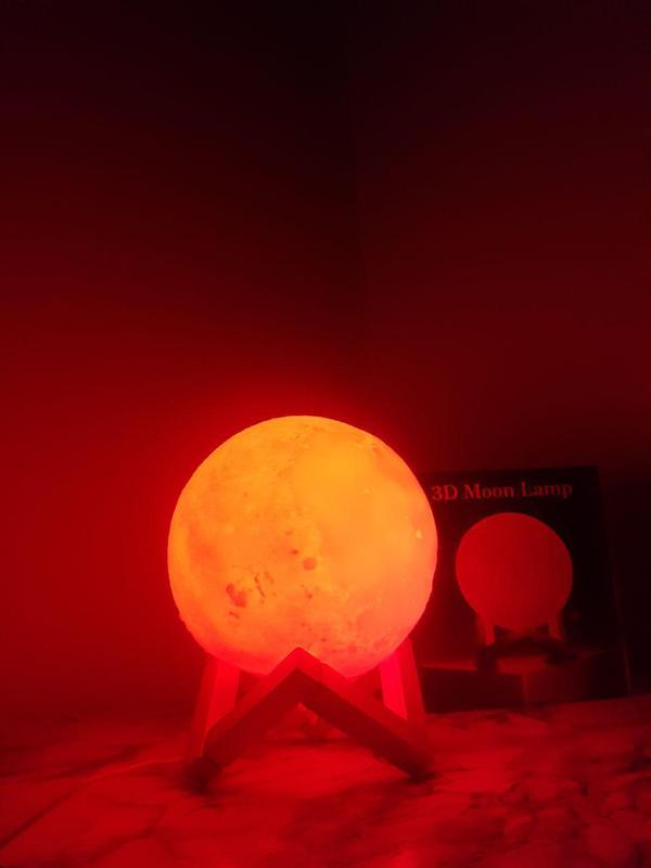 ХИТ! Ночник Луна Magic 3D Moon Light светильник лампа - Фото 4