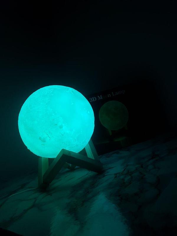 ХИТ! Ночник Луна Magic 3D Moon Light светильник лампа - Фото 5