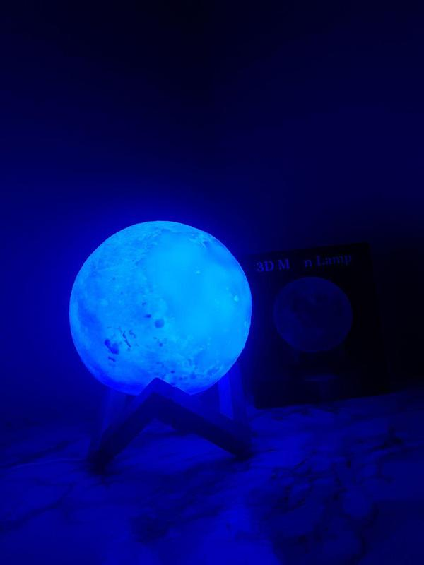ХИТ! Ночник Луна Magic 3D Moon Light светильник лампа - Фото 6