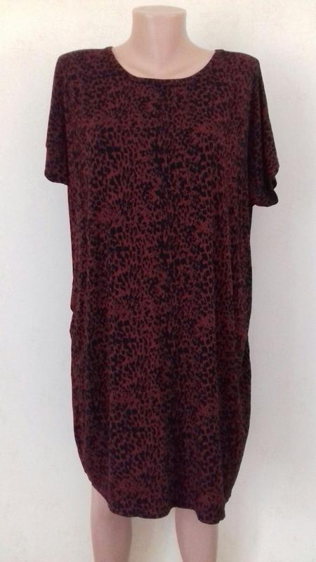 Трикотажное платье с принтом большого размера