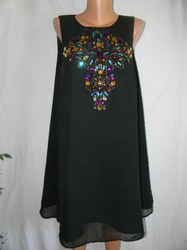 Платье с украшением asos
