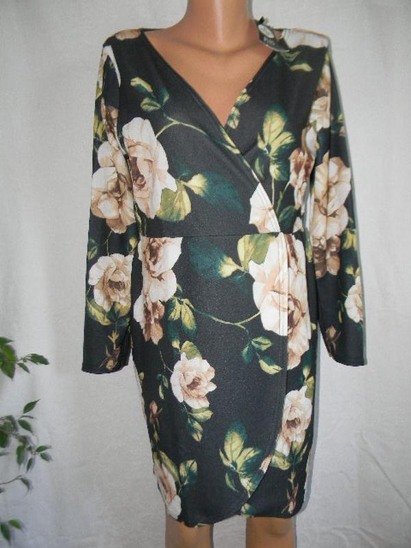Новое стильное платье на запах