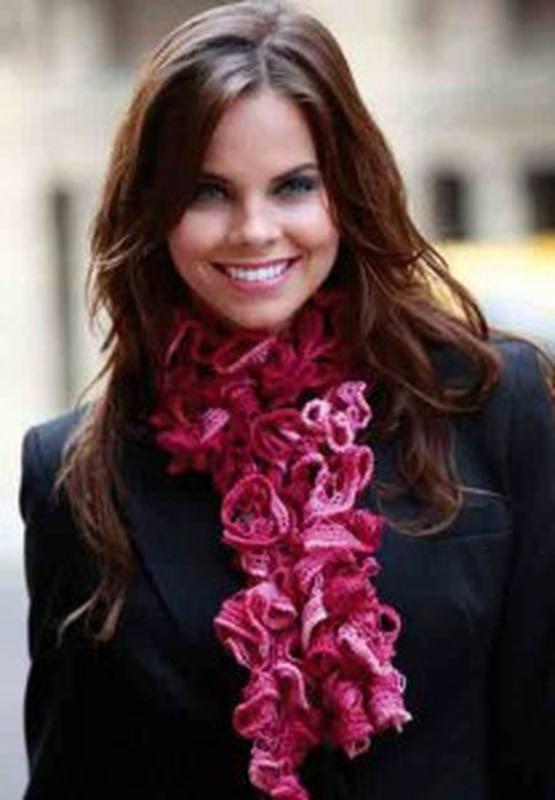 Оригинальный теплый шарфик