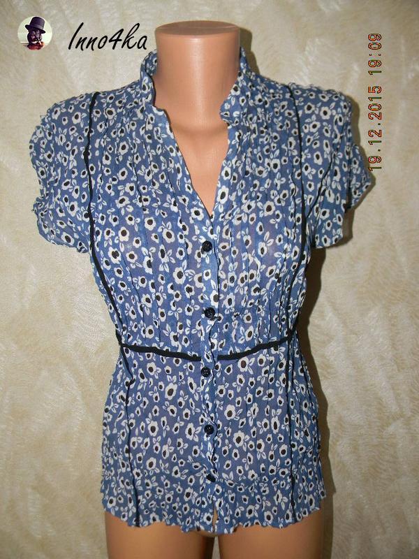 Шифоновая блуза с цветочным принтон
