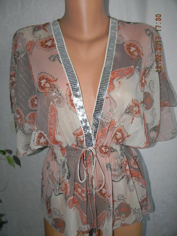 Блуза шифоновая с принтом