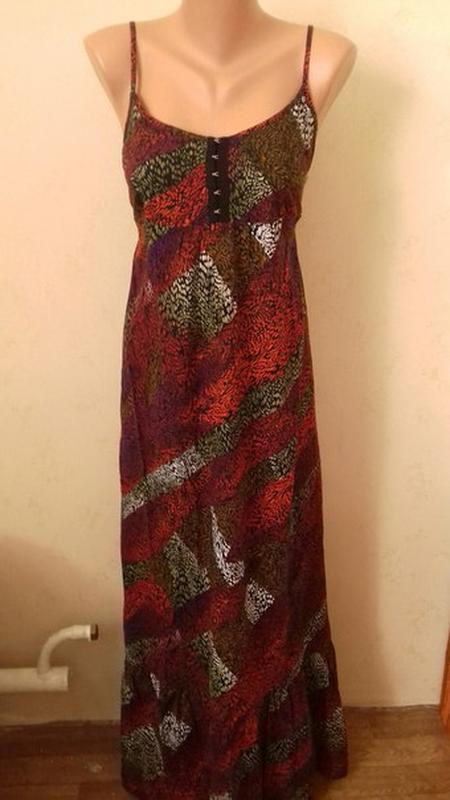 Длинное платье - сарафан с принтом debenhams