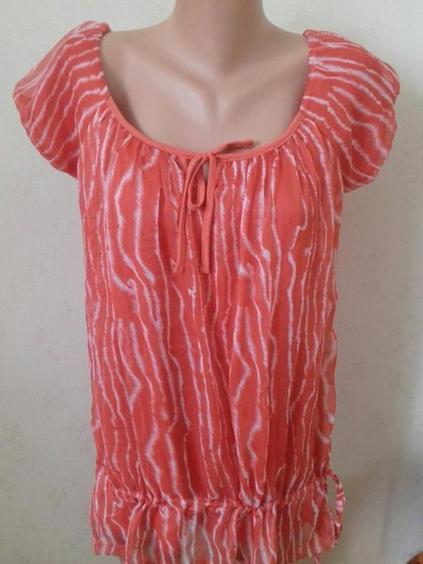Красивая комбинированная блузочка с принтом george