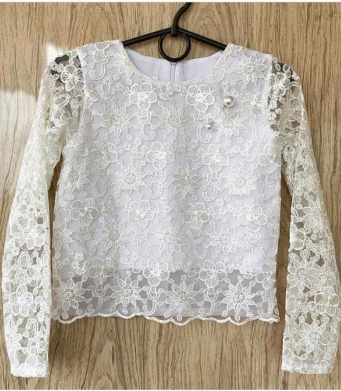 Кружевная блузка для девочки