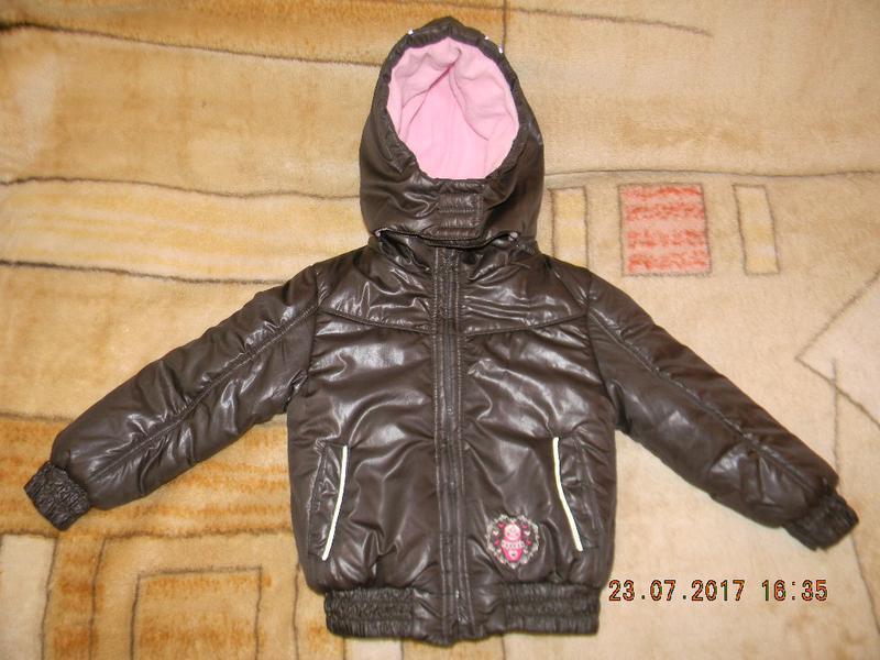 Теплая куртка 110см