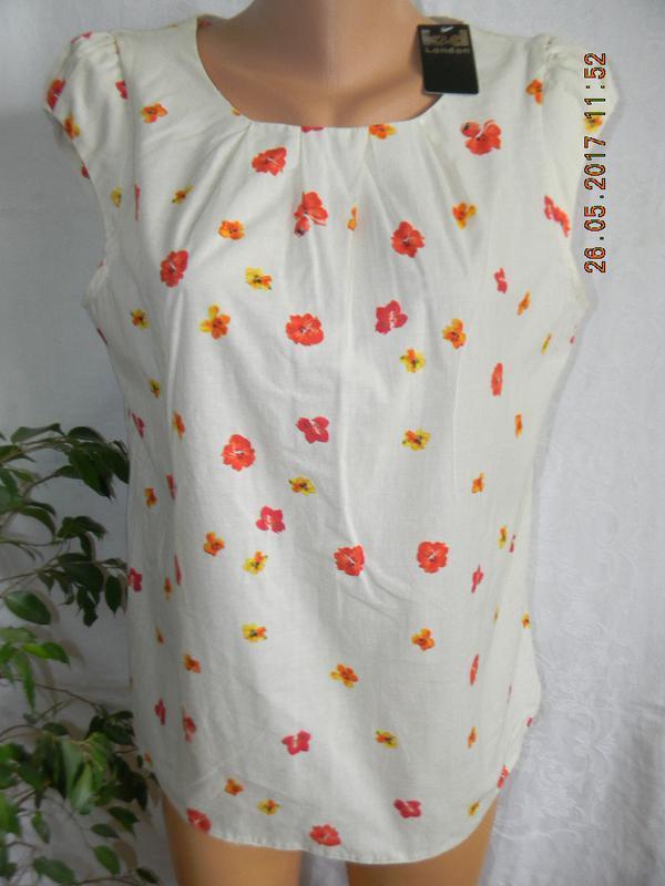 Тонкая вискозная блуза с принтом
