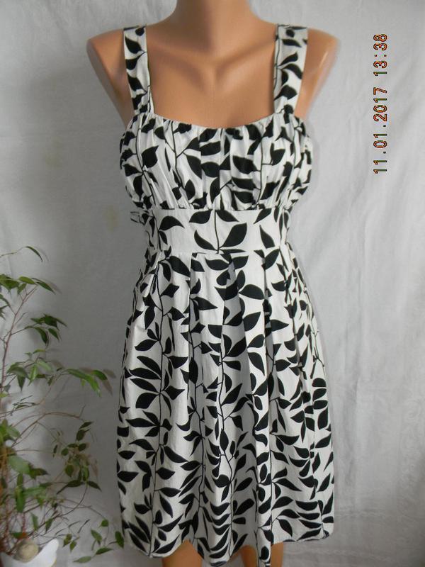 Платье сарафан летнее легкое с принтом