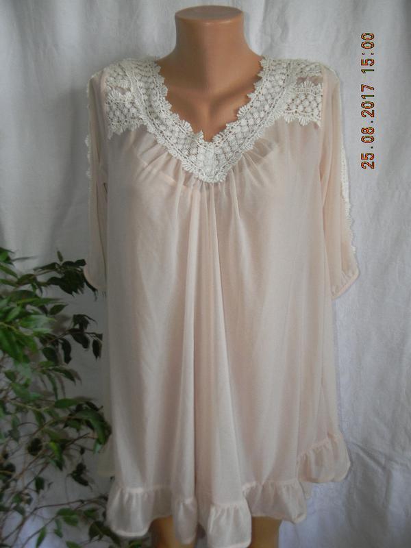 Нежная новая блуза с кружевом tophop