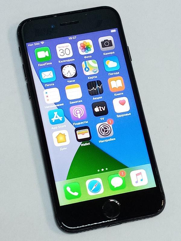 Телефон Iphone 7 128Gb Black Neverlock - Фото 2