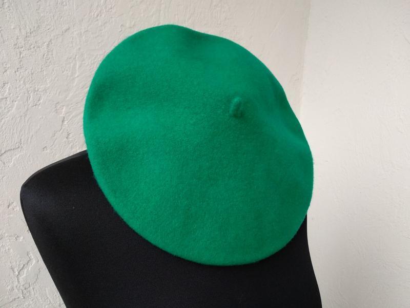 Чешский фетровый берет. сочная зелень