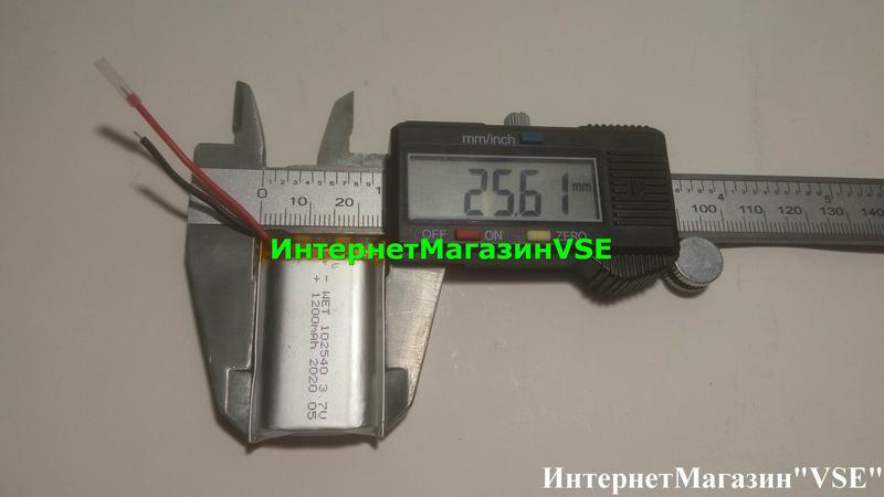 Аккумулятор 1200mah 102540 41.15-25.6-10.42мм для Bluetooth Гарни - Фото 2