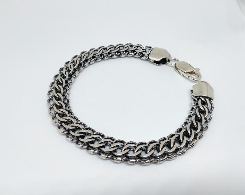 Массивный браслет 23 размера. серебро