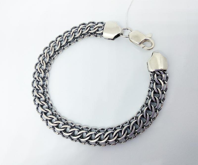 Массивный браслет 23 размера. серебро - Фото 2