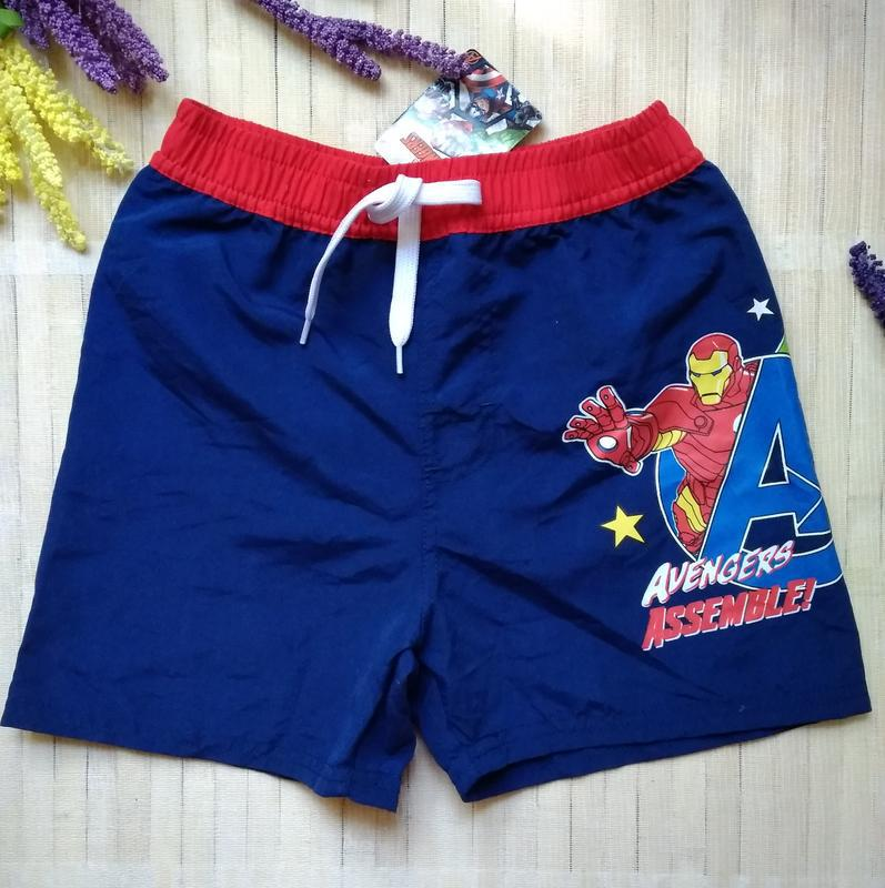 Шорты для плавания купальные шорты avengers marvel 116-122