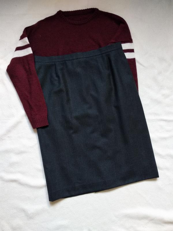 Идеальная прямая шерстяная юбка спідниця escada