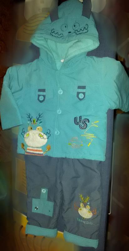 детский демисезонный костюм (курточка+ брюки утепленные)