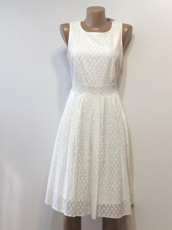 Нарядное кружевное платье dunnes, р.12