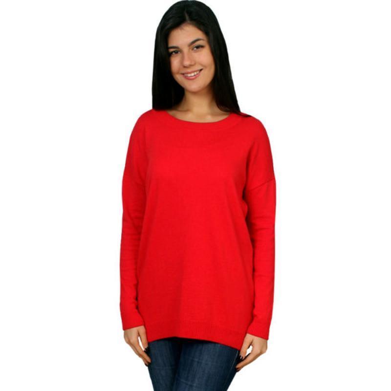Красный нарядный длинный джемпер кофта свитер италия с шифоном...
