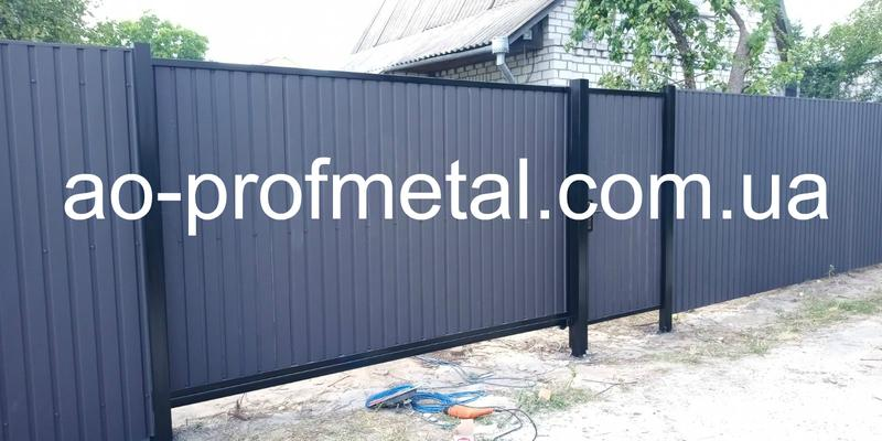 Ворота из профнастила, Металлопрофиль для ворот.