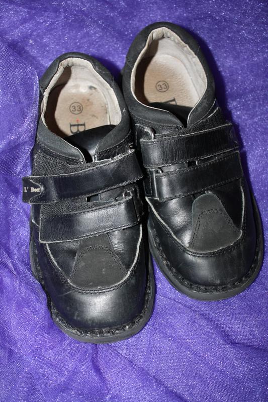 Кожанные фирменные b&g туфли р-33, в хорошем состоянии