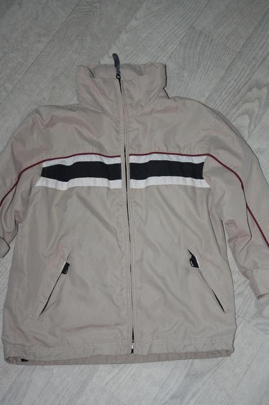 Деми фирменная курточка-ветровка с капюшоном р-128/134 в отлич...