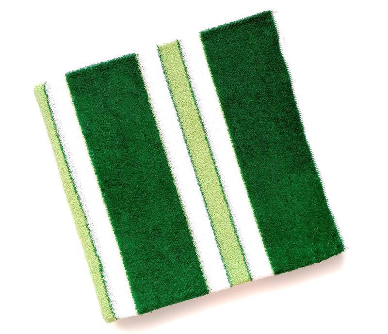 Махровое полотенце 100*50 зеленое с белым