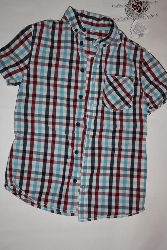 Классная модная рубашка ф.m&s для мальчика 9/10лет в отличном со