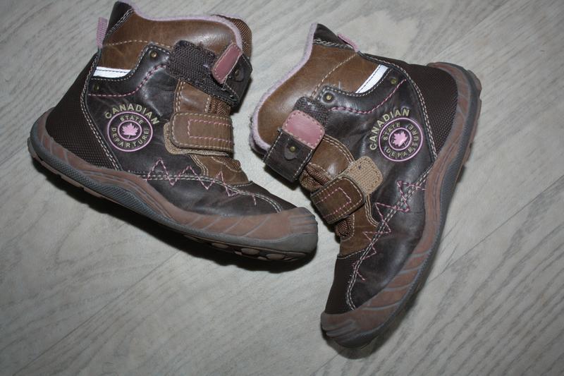 Зимние кожаные ботинки ф.lupilu р-27 евр-9 в хорошем состоянии