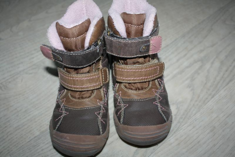 Зимние кожаные ботинки ф.lupilu р-27 евр-9 в хорошем состоянии - Фото 4